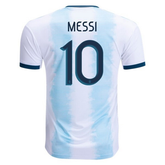 Lionel Messi Home Replica Soccer Jersey 2019 Argentina #10