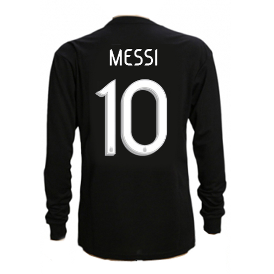 Lionel Messi Away LS Soccer Jersey 2019 Argentina #10
