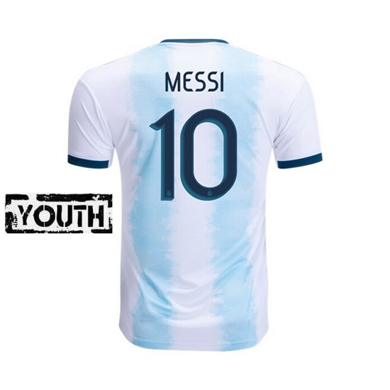 Lionel Messi Youth Home Soccer Jersey 2019 Argentina #10