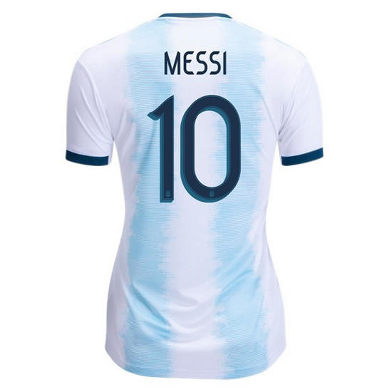 Lionel Messi Women's Home Soccer Jersey 2019 Argentina #10