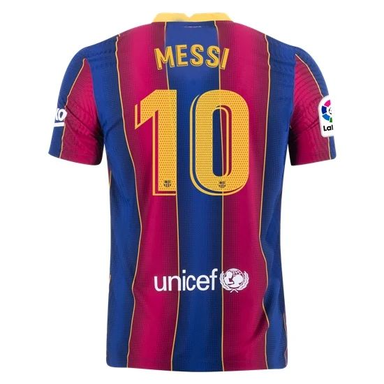 Lionel Messi Authentic Home Soccer Jersey 21/20 Barcelona #10