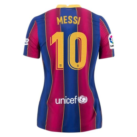 Lionel Messi Women's Home Soccer Jersey 21/20 Barcelona #10