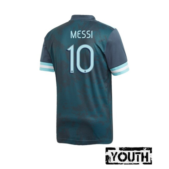 Lionel Messi Youth Away Soccer Jersey 2020 Argentina #10