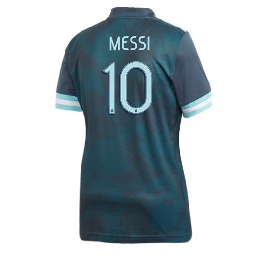 Lionel Messi Women's Away Soccer Jersey 2020 Argentina #10